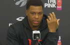 Kyle Lowry Speaks With Media At The Team's Locker Clean Out