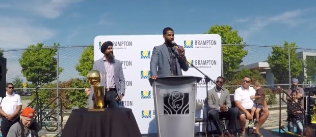 Tristan Thompson Gets Keys To Brampton