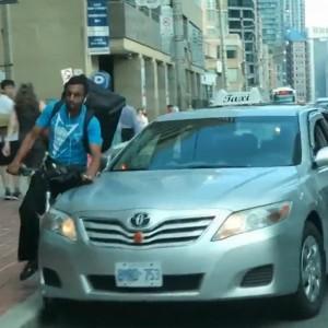 Toronto Taxi Driver Runs Down Cyclist