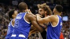 Robin Lopez vs Serge Ibaka Fight