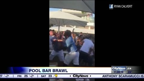 Cabana Pool Bar Brawl Between Bouncers And Partygoers
