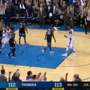 Andrew Wiggins Game Winner Timberwolves vs Thunder October 22 2017