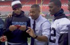 Cabbie & Members Of The Toronto Argonauts & Calgary Stampeders Try One Chip Challenge