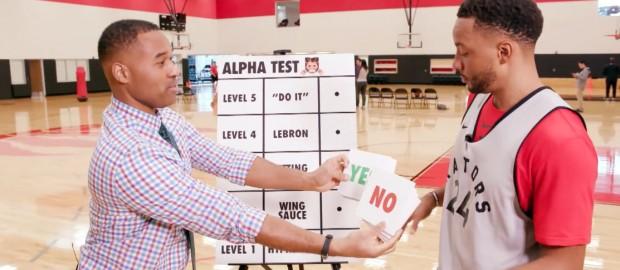 Toronto Raptors Take The Alpha Test On Cabbie Presents