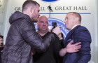 GSP Shoves Michael Bisping At Toronto Press Conference